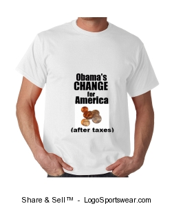 Obama's CHANGE after taxes short sleeve shirt Design Zoom